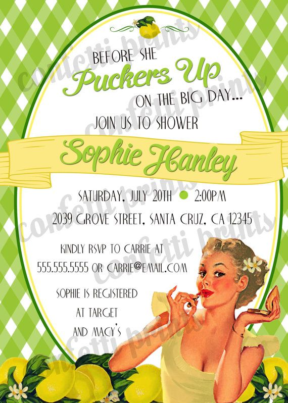 Retro Housewife Bridal Shower Invitation by ConfettiPrintsShop