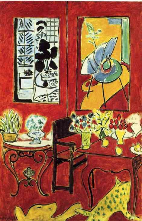 Henri Matisse, Large Red Interior, 1948 on ArtStack #henri-matisse #art
