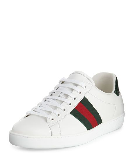 3c8f2a5b0a569e GUCCI | Men's New Ace Leather Low-Top Sneakers | $580.00 | Gucci