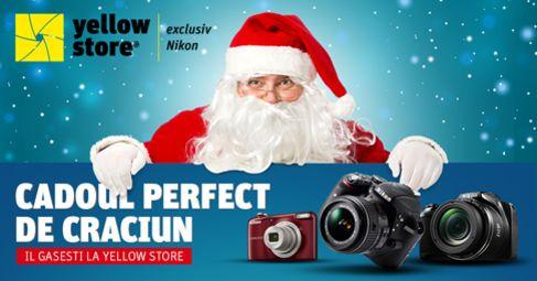 Promotii de Craciun la Yellow Store De Mos Craciun te asteptam incepand cu 09 decembrie, ora 10:00, pe site-ul yellowstore.ro sa-ti cumperi aparate foto, obiective si accesorii cu super reduceri! S...