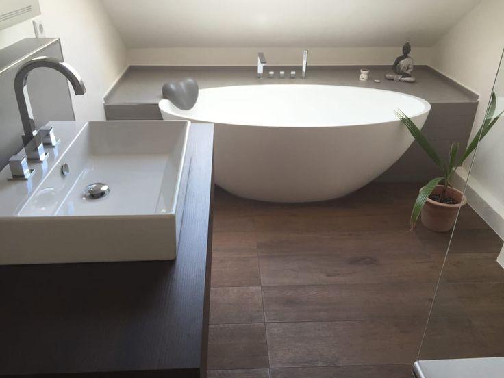 Finde moderne Badezimmer Designs: Einbau-Dokumentation eines Badeloft-Kunden anhand der freistehenden Badewanne BW-04. Entdecke die schönsten Bilder zur Inspiration für die Gestaltung deines Traumhauses.