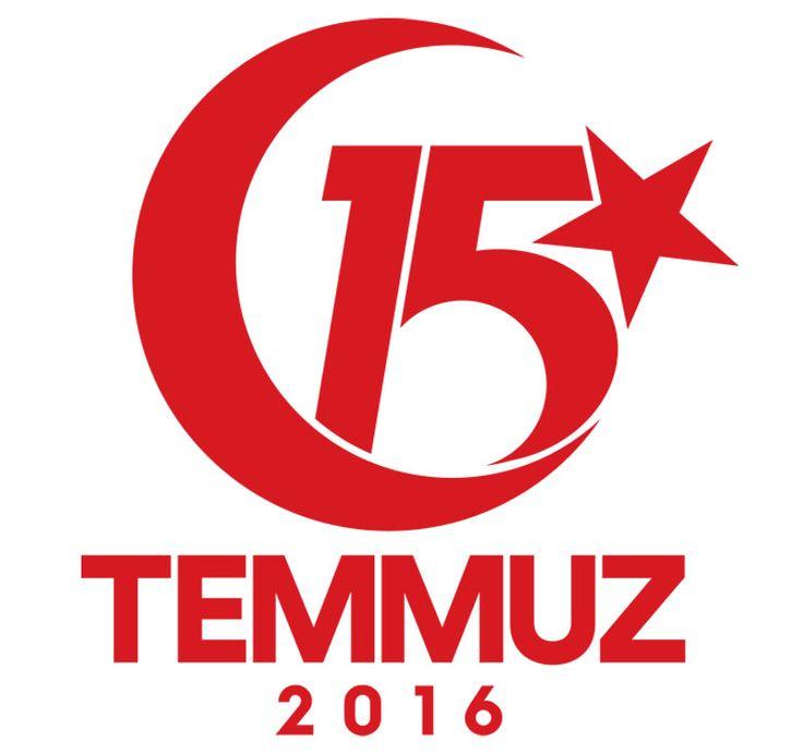 '' 15 Temmuz'u anma etkinlikleri resmi logosu ''