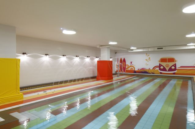 Colourful and creative swimming pool for kids