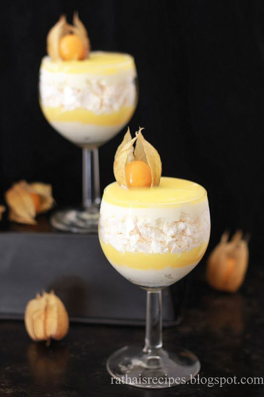 Lemon curd and crushed up meringue - Gluten Free