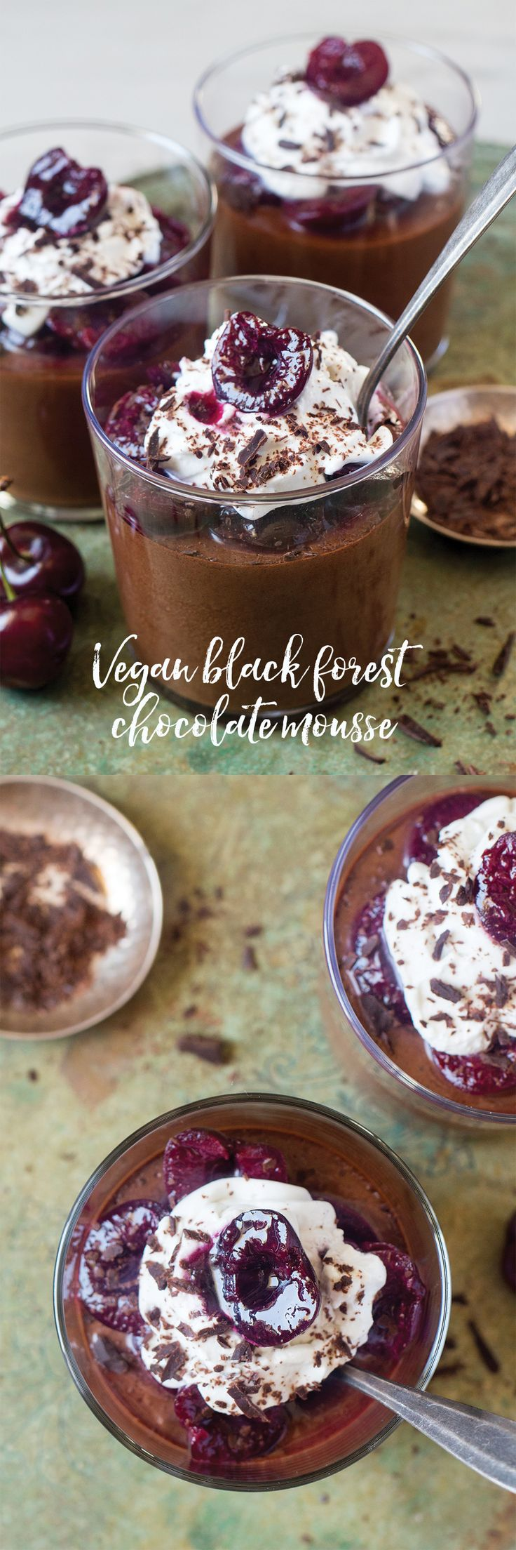 Vegan black forest chocolate mousse                                                                                                                                                      More