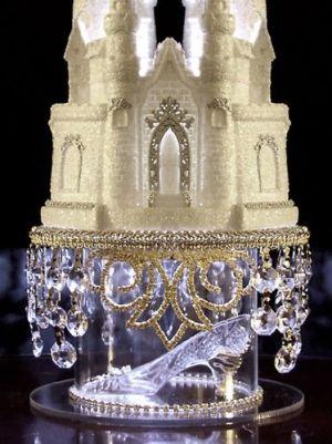 Ebay: Lighted Cinderella Castle Swarovski Crystal Wedding Cake Topper with Slipper $148.40 by penelope
