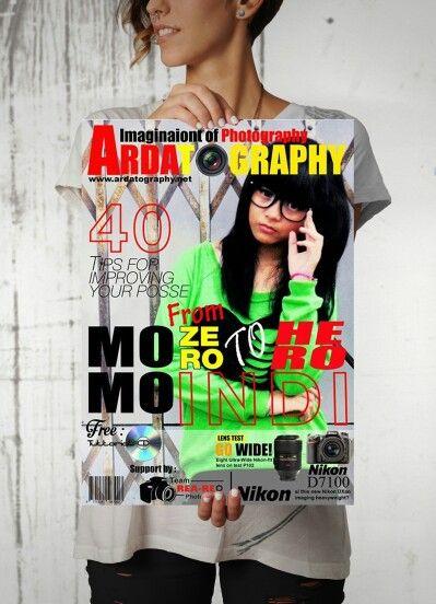 Layout cover magazine Ardatography edition From zero to hero Momo indi