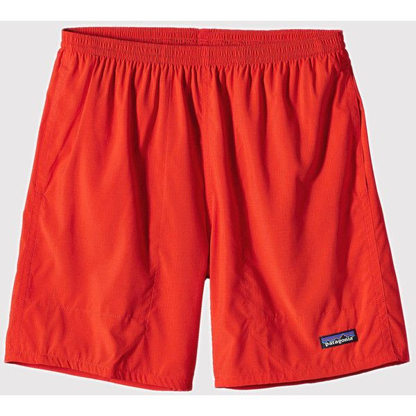 Patagonia Baggies Light Shorts - Classic Red ($66) ❤ liked on Polyvore featuring men's fashion, men's clothing, men's shorts, classic red, mens summer shorts, mens baggy cycling shorts, patagonia mens shorts and mens red shorts