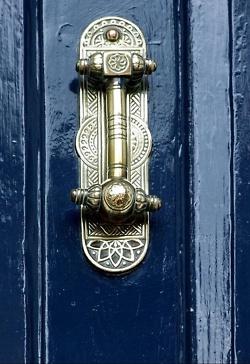 Door Fitting Blue Door