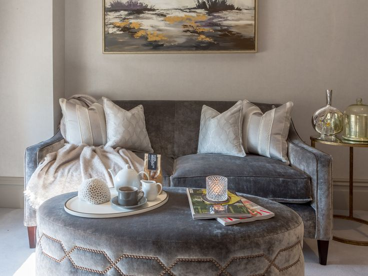 Opulent and rich in texture, these Osborne & Little fabric cushions and elegant soft furnishings add style and luxury to the design. #interiordesign #luxurylife #luxury #london #luxuryproperty #luxuryhomes #londonproperty #luxuryinteriors