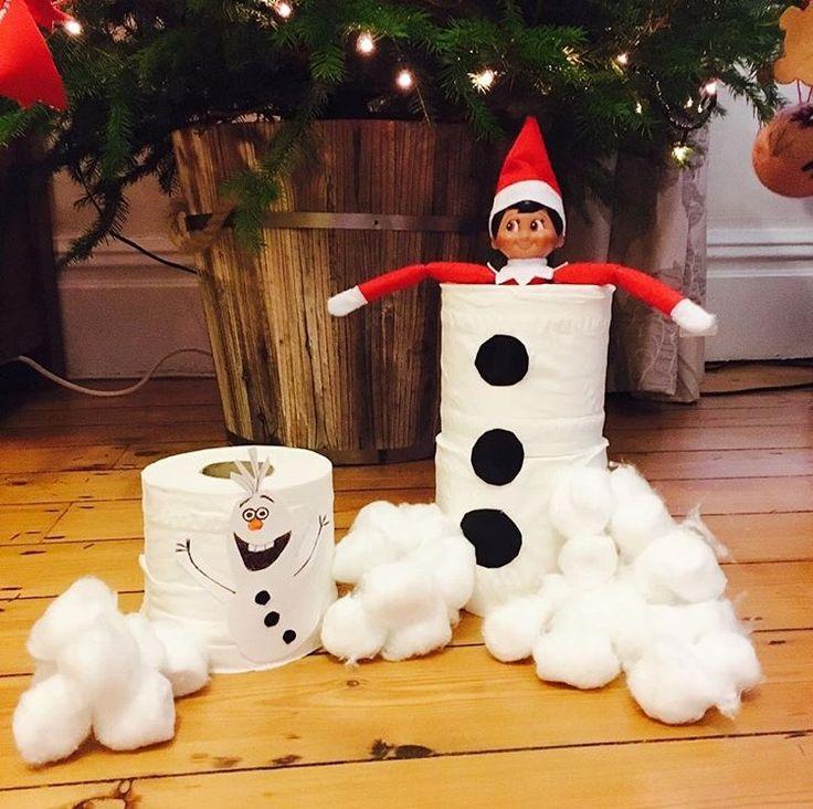 Elf on the shelf snowman