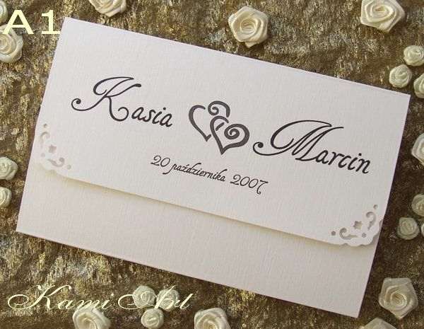 KamiArt - zaproszenia ślubne na zamówienie