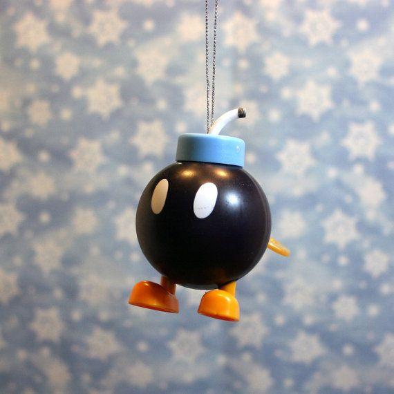 Nintendo Super Mario Brothers Bombomb Christmas by ReGeekery, $7.95