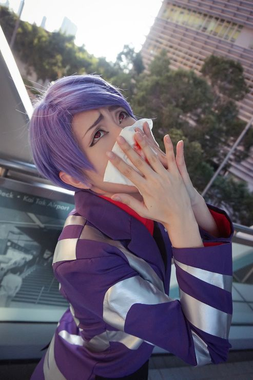 Shuu Tsukiyama - Tokyo Ghoul. Seriously this is a legendary cosplay XD so accurate!!!