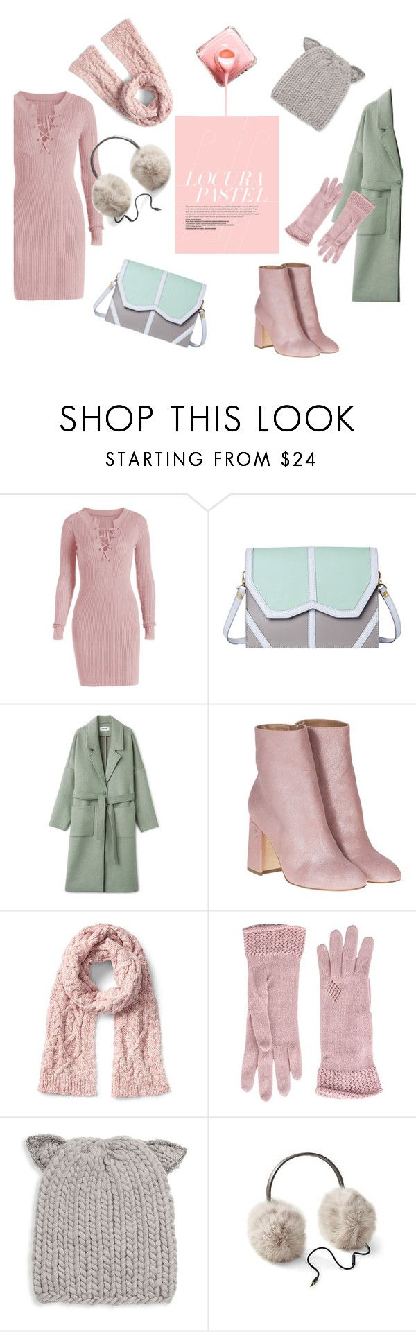 """""""Pastels for cold weather"""" by manaaw ❤ liked on Polyvore featuring Emeline Coates, Laurence Dacade, Jolie By Edward Spiers and Eugenia Kim"""
