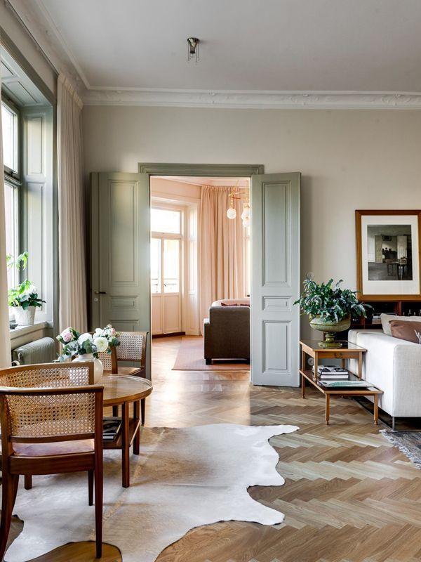 French Style Tall Doors And Parquet Floors