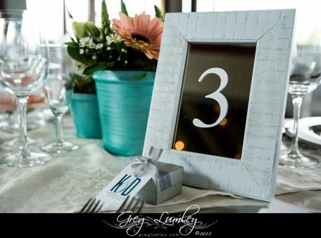 Table number on mirror in a frame - Canvas Stationery Boutique