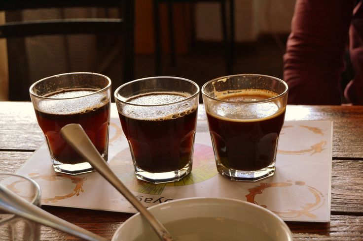 The three different types of #coffee.