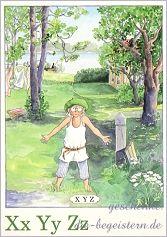Postkarte Majas Alphabet [Xx Yy Zz]