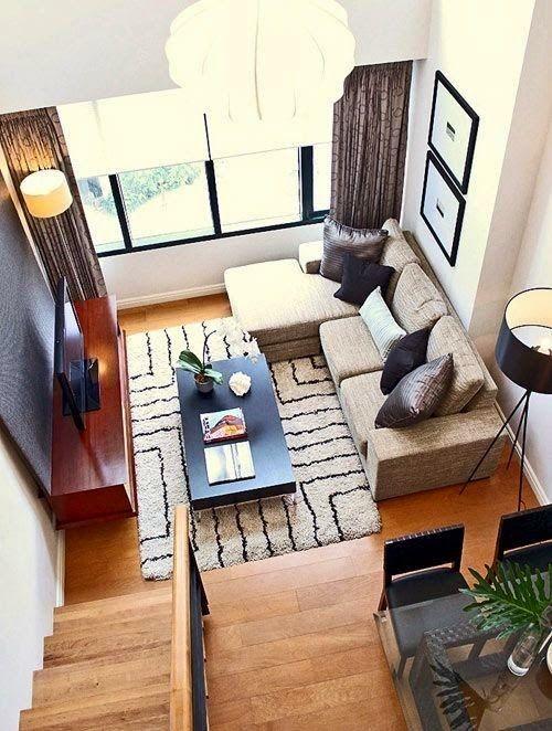 Decor | 30 Ideias para salas de estar pequenas
