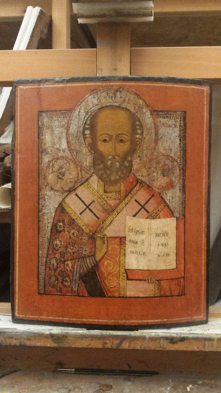Restaurare Icoană Sf Nicolae.