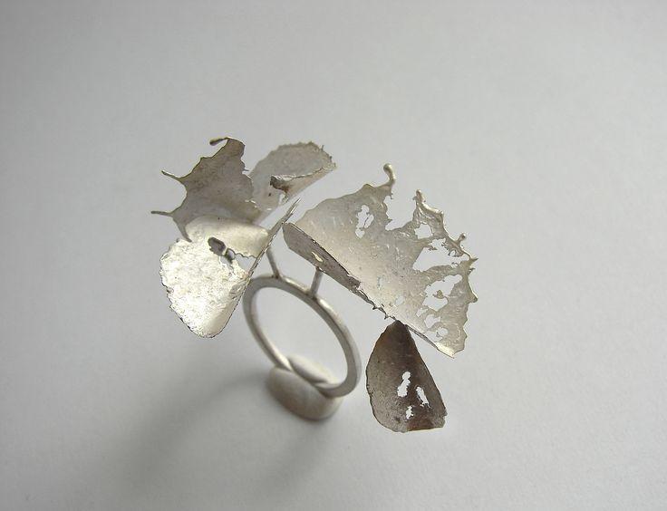 Andra Lupu - crushed - ring - 925 silver: