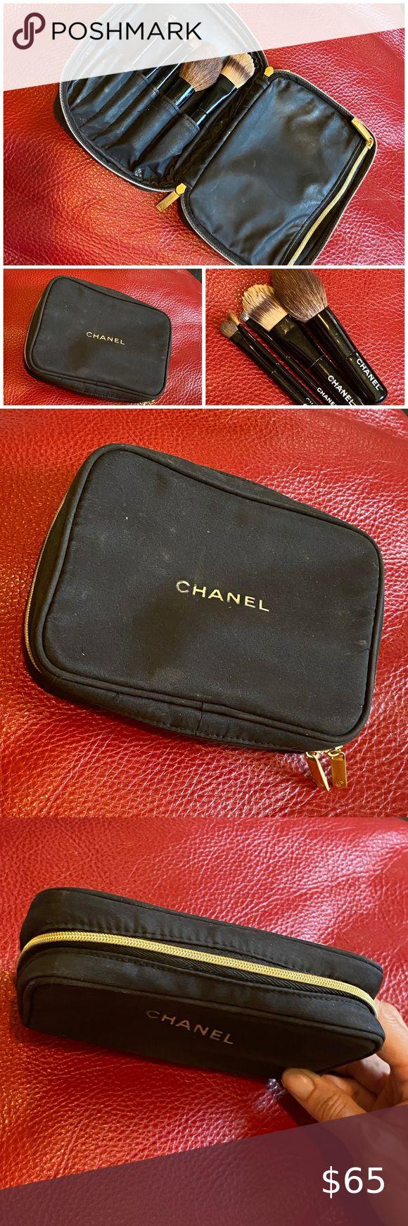 Chanel make up brush set & bag in 2020 Makeup brush set