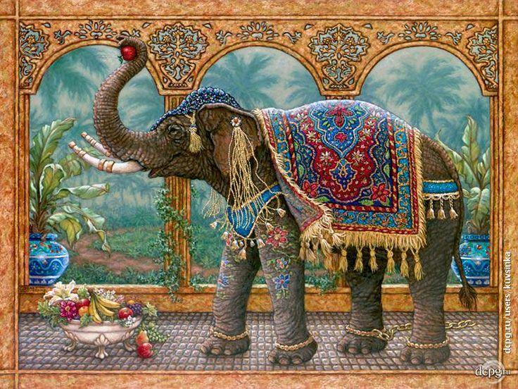 """Декупаж - Сайт любителей декупажа - DCPG.RU   Чайная шкатулка """"Индийский слон""""."""