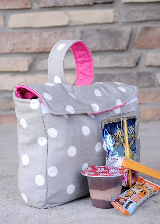 How to Make a Kid's Lunch Box Pattern and Tutorial via @Amber Price: Crazy Little Projects