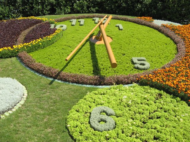 floral clock - Geneva, Switzerland.  We took our pic in front of this floral clock many years ago!