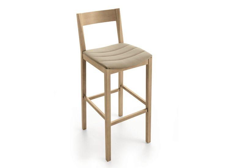 Sedia alta imbottita con poggiapiedi CORALLINA | Sedia con poggiapiedi - Scandola Mobili