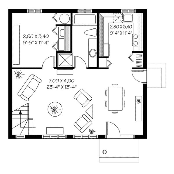 Contemporary House Plan 65163   Saltbox houses