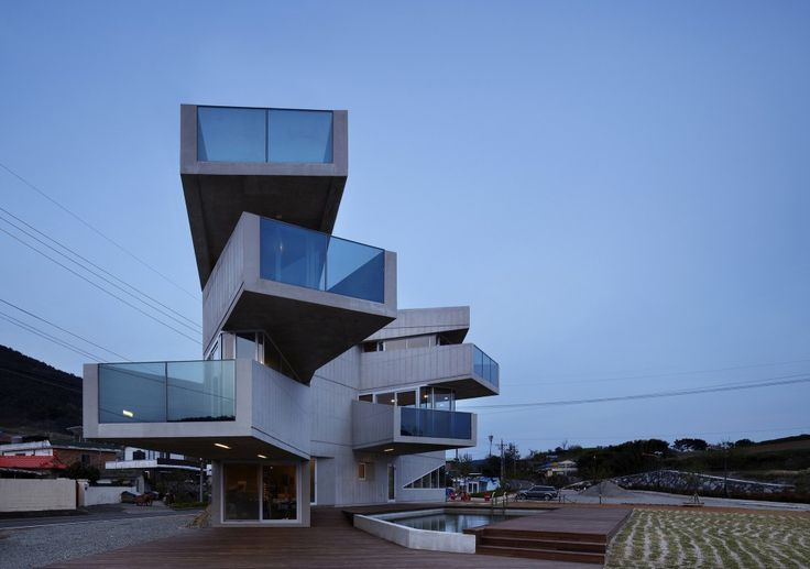 Aggrenad hotel by AND architects, Geoje Island