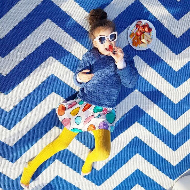 Chevron and polka dot picnic x