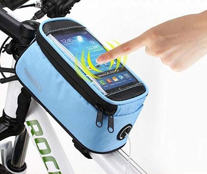 Cycling Bags Bike Frame Pannier Bicycle Front Tube Bag Holder for Cell Phone