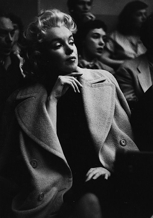 1950: Marilyn Monroe photographed at the Actors Studio by Roy Schatt