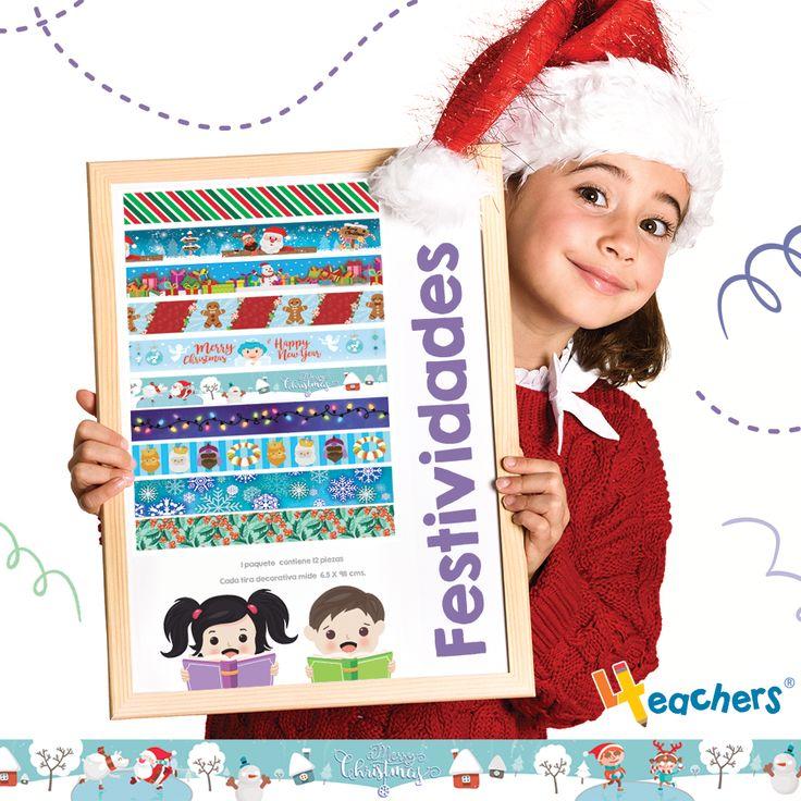 BORDES - TIRAS DECORATIVAS con temas navideños .❄️☃️ Prepárate con la decoración del aula de clases, para esta navidad.🎄😜 🌬️  📦 Paquete de TIRAS DECORATIVAS - BORDERS con 12 piezas de 98 x 6.5 cm  🛒 Compras SEGURAS ⬇️⬇️⬇️ www.4teachers.com.mx 📞 33 2258 0243 / 33 1604 1328 #4teachers #teachers #decoracion #navidad