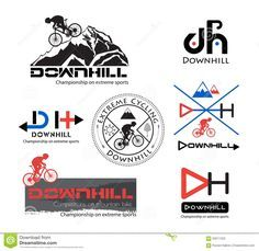 Logo Bike Downhill, Mountain Bike Logo Isolated. - Download From Over 47 Million…