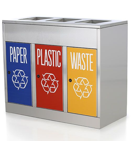 Stainless steel Recycle trash bins