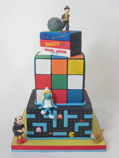 '80's cake!Awesome 80S, Rubik Cubes, Cake Ideas, 80S Cake, 80S Style, Parties Ideas, 80S Theme Cake, 80S Parties, Birthday Cake
