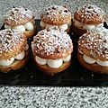 Tarte tropézienne individuelle Pour 8 tartes de 8 cm de diamètre Pour la pâte à brioche A faire la veille Ingrédients: Farine T45...