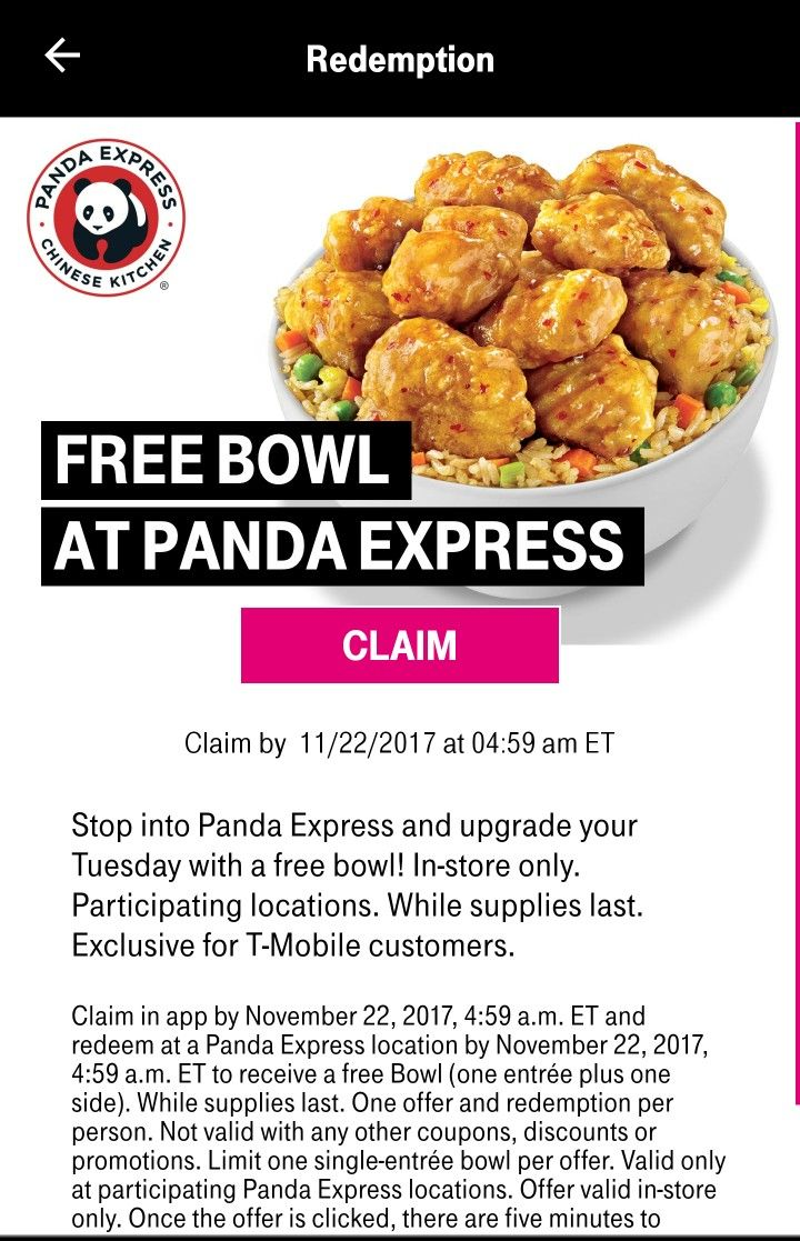 TMobile Tuesday for Customers only. Get your aplication and get all the free items just every Tuesdays.  This is not a cupon, is just what you have in your aplication, exclusive for you to use it.