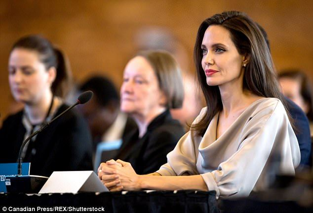 Passionate:In her powerful speech, the activist for the rights of women and refugees touc...