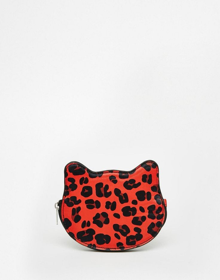 Image 1 of ASOS Leopard Coin Purse