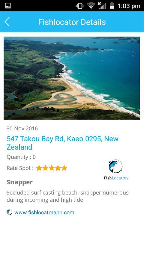 Takou Bay NZ Fishlocator app
