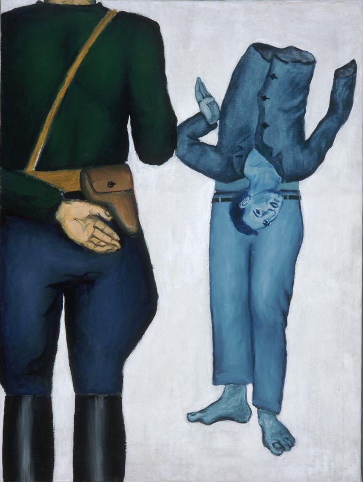 Andrzej Wróblewski,Executed Man (Execution with a Gestapo Man) 1949