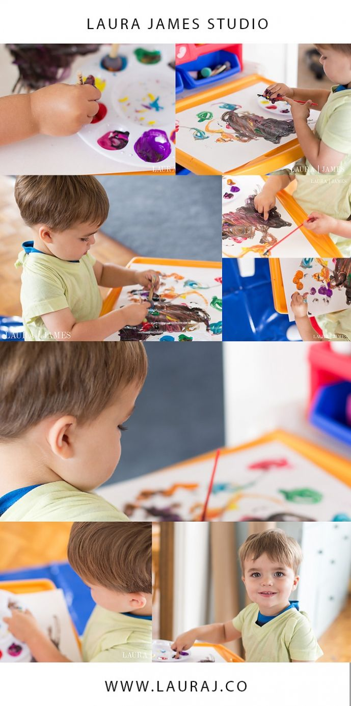 toddler painting indoor lifestyle photography laura james studio playa del rey california angles and composition