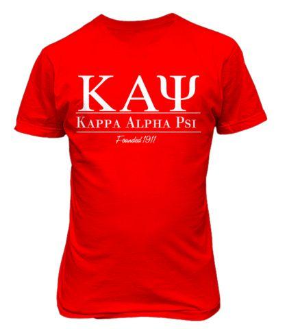 kappa alpha psi Collegiate Tee - Letters Greek Apparel - Black Greek Paraphernalia