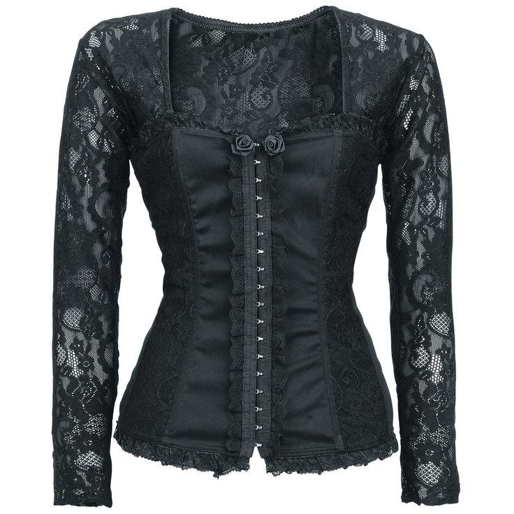 Alcatraz Langermet skjorte -Victoria Top- -- Kjøp nå hos EMP -- Mer Goth Langermete skjorter tilgjengelig online - Uslagbare priser!