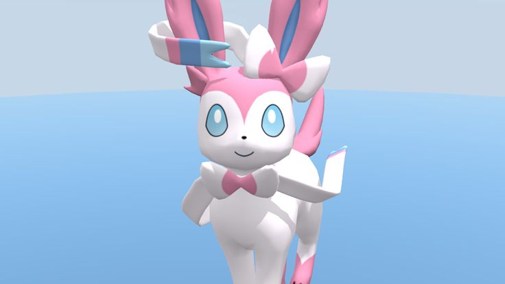 Sylveon 3D by rujipas.deviantart.com on @deviantART